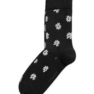 BJÖRN BORG SIMPLE FLOWER ANKLE SOCKS, BLACK BEAUTY 2111-1209/90651
