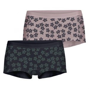 BJÖRN BORG DAMES COTTON MINISHORTS (2-PACK) GRAPHIC FLORAL, BURNISHED LILAC 2111-1236/60731