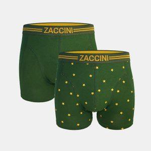 ZACCINI HEREN BOXERSHORTS (2-PACK) GOLD STARS M08-232
