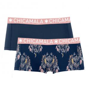 CHICAMALA (MUCHACHOMALO) DAMES SHORTS(2-PACK) HUSKI 1215-Q121-HUSKI01
