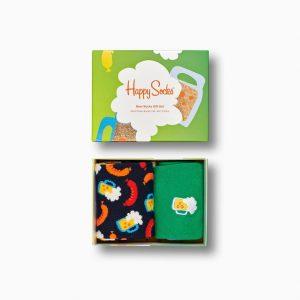 HAPPY SOCKS BEER SOCKS GIFT BOX (2-PACK), XBEE02-7300